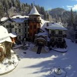 Beautiful and interesting holiday in Ukraine in winter in mountains Carpathians, region Slavske-Volosyanka