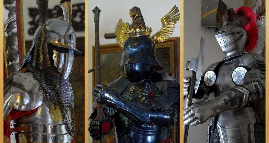 Середньовічні лицарські обладунки, готель Вежа Ведмежа