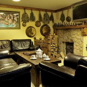 Кімната відпочинку руської бані в Карпатах