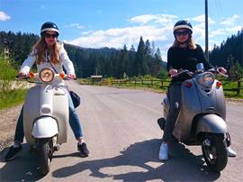 Подорожі Карпатами на скутерах