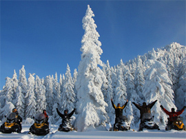 Подорожі по зимових Карпатах на снігоходах