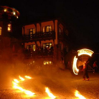 Fire Show, vibrant corporate holiday