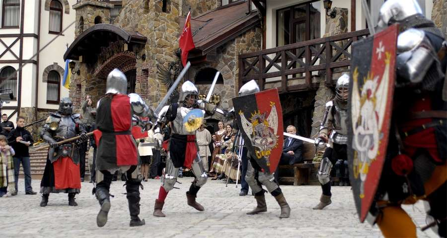 Knightly fun, vibrant corporate in the Carpathians
