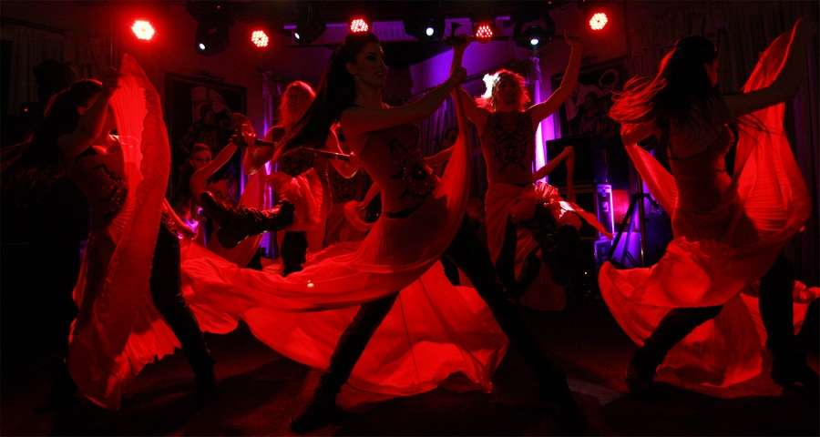 Dance show as part of corporate entertainment in the Carpathians