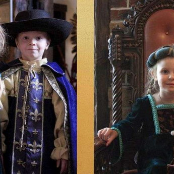 Children medieval suits for princesses and princes