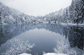 озеро синевир зима карпати