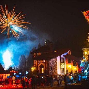 Новий рік в Карпатах - неповторні святкові феєрверки і салюти