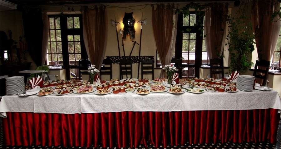 Served table for banquet
