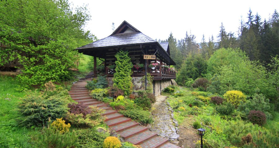 Luxurious sauna bath in the Carpathians