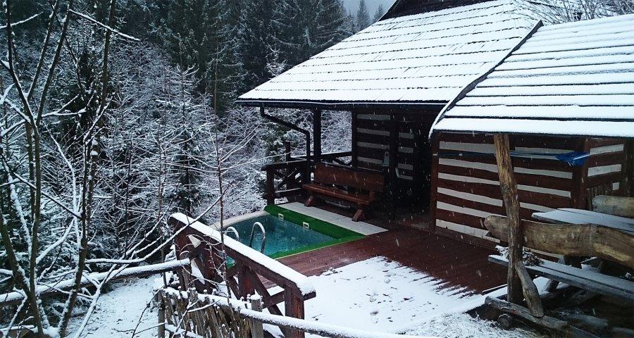 Bath ice-hole in the Carpathians (Slavske-Volosyanka)