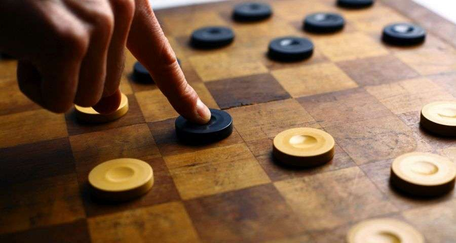 Checkers - Board Games at the Vezha Vedmezha Hotel