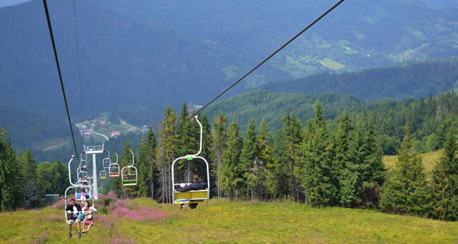 Cableway in the Carpathians, Volosyanka
