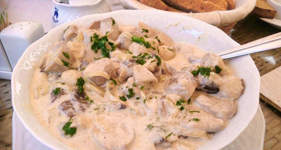 Dish of wild mushrooms