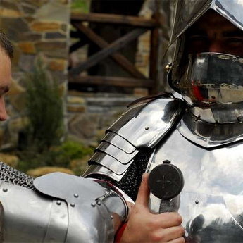 Males in medieval armor