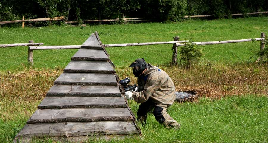 Paintball in the Carpathians in the Lviv region