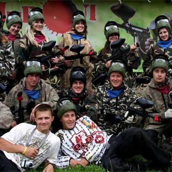 The team game of paintball