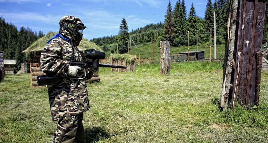 Paintball in the Carpathians, 100 + km from Lviv