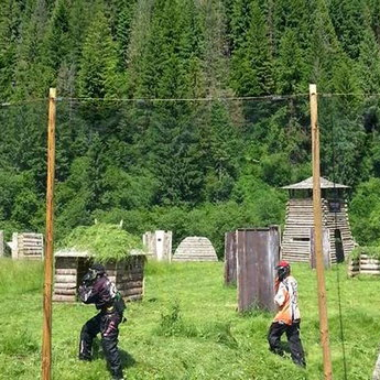 Paintball in the Carpathians in summer