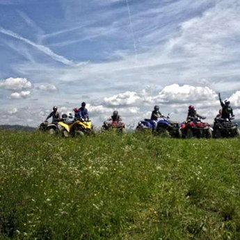 On quadrocycles in the Carpathians, summer