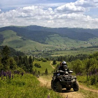 Travel on quadrocycles, Summer Carpathians