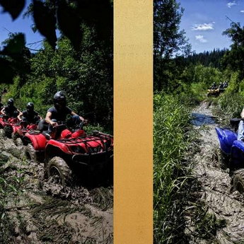 Extreme quad bikes trip in the Carpathian roads