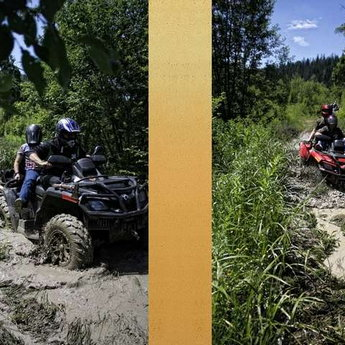 Extreme vacation while traveling on on quad bikes