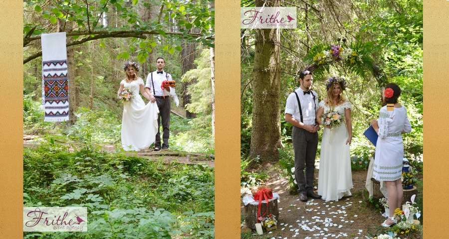 Wedding ceremony in the Carpathians, Slavs'ke