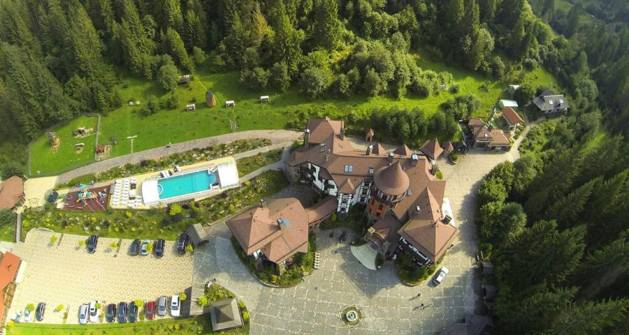 Hotel Castle Vezha Vedmezha, view from above site
