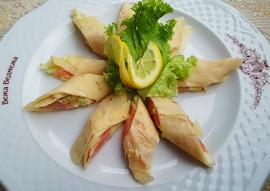 Млинці з копченим лососем