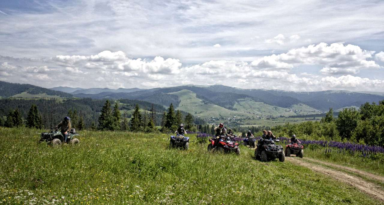 Travel on ATV in the Carpathians