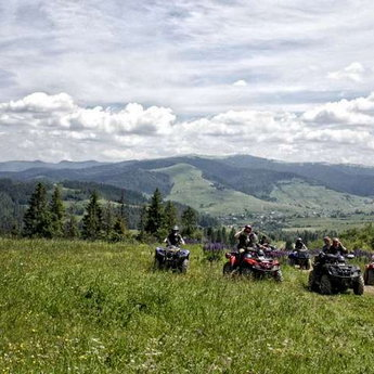 Travel on ATV in the Carpathians