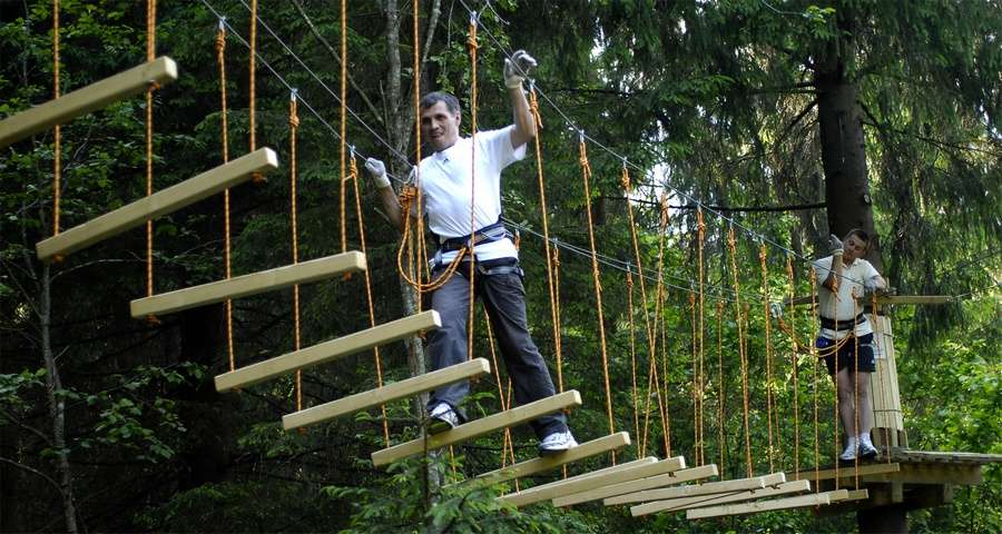 The largest rope park in the Carpathians
